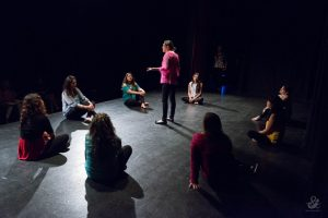 Vagina Monologues rehearsal